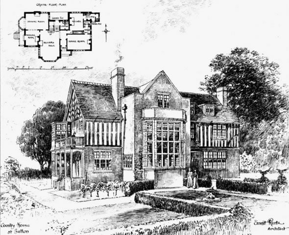 1898 &#8211; Country House at Sutton, Surrey
