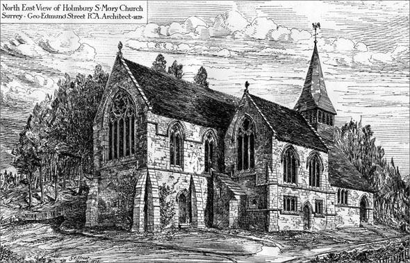 1879 – Church of St. Mary, Holmbury, Surrey
