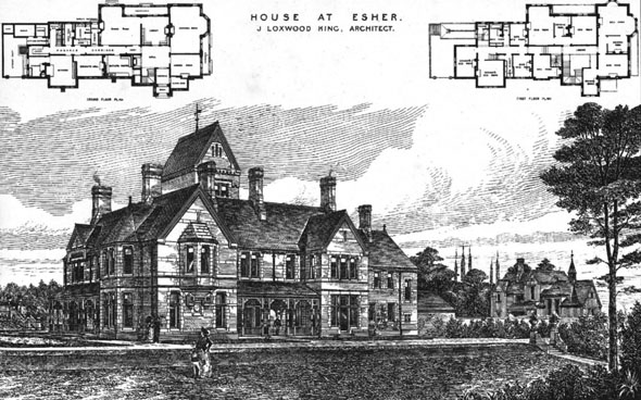 1884 &#8211; House at Esher, Surrey