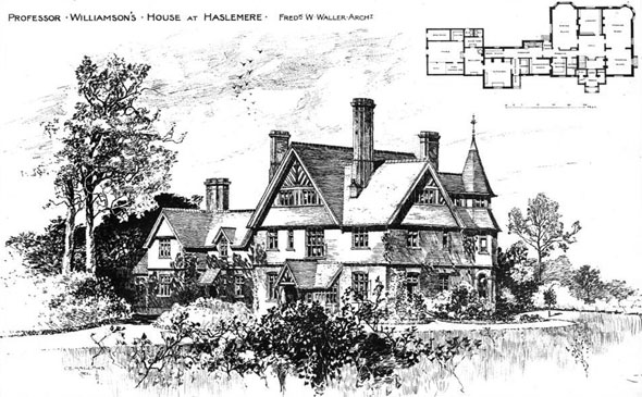 1891 &#8211; Professor Williiamson&#8217;s House, Haslemere, Surrey