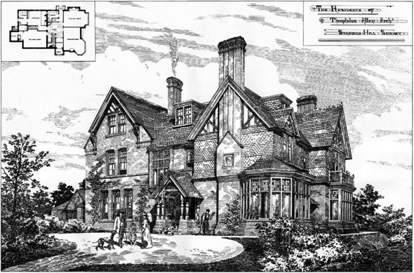1887 &#8211; Residence of Theophilus Allen, Stanyard Hill, Surrey