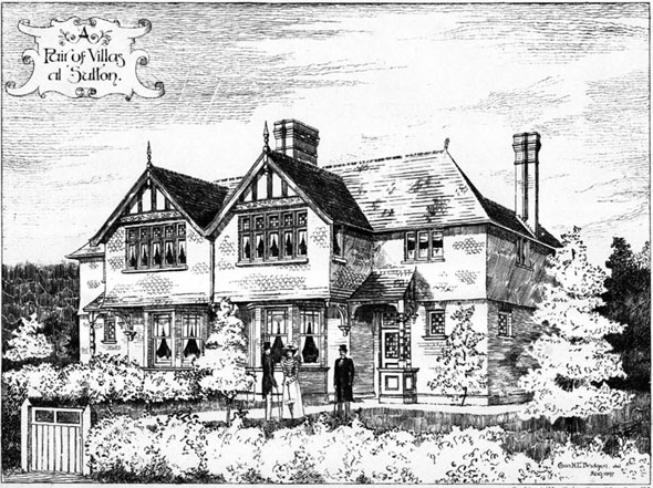 1897 &#8211; A Pair of Villas at Sutton, Surrey