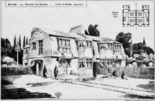1898 &#8211; Houses at Walton on Thames, Surrey