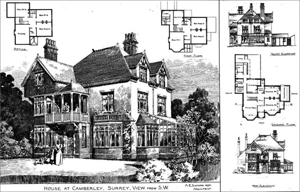 1895 &#8211; House at Camberley, Surrey