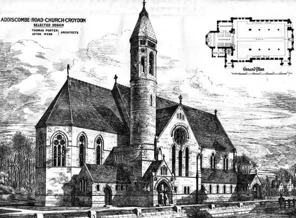 1875 &#8211; Addicombe Road Church, Croydon, Surrey