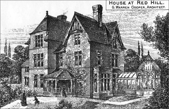 1886 &#8211; House at Red Hill, Surrey