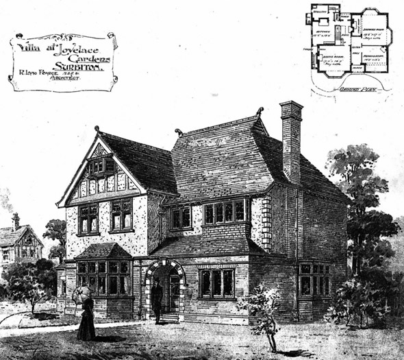 1897 &#8211; Villa at Lovelace Gardens, Surbiton, Surrey
