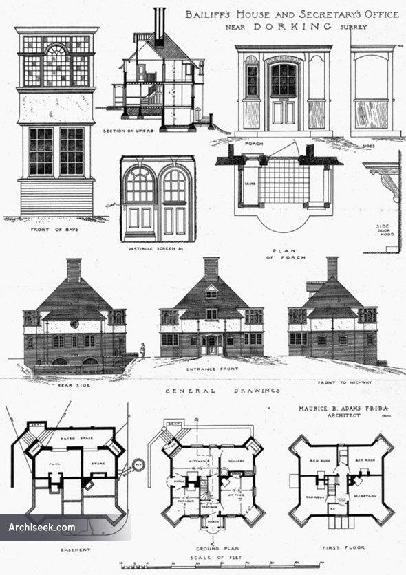 1900 – Bailiff's House & Secretarys Office, Dorking, Surrey