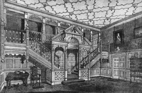 1888 &#8211; Staircase at Waverley Court, Camberley, Surrey
