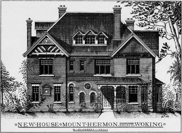 1888 –  New House, Mount Hermon Estate, Woking, Surrey