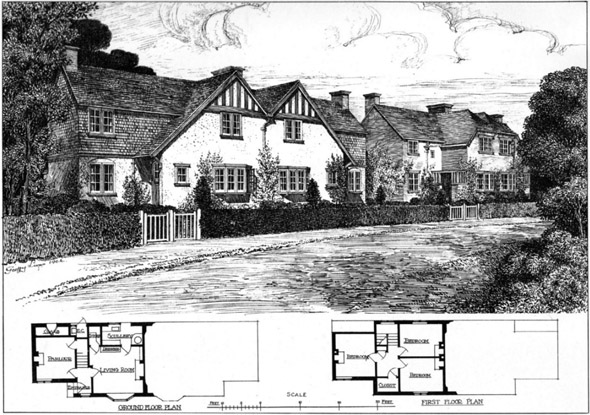 1904 &#8211; Cottages, Byfleet, Surrey