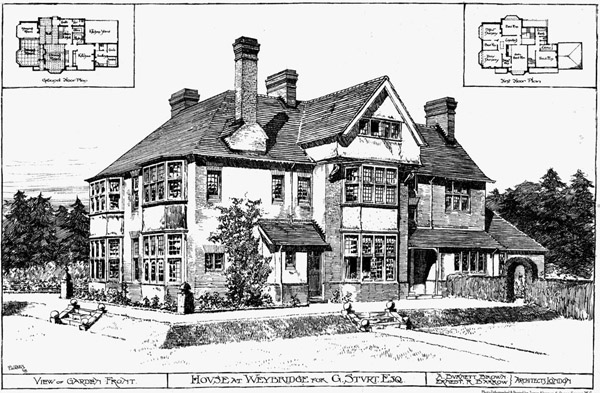 1898 &#8211; House at Weybridge, Surrey