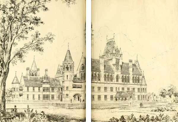 1872 – Design for St. Annes Heath Asylum, Surrey