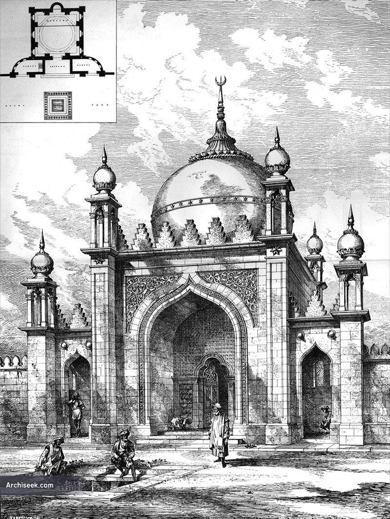 1889 – Design for Shah Jahan Mosque, Woking, Surrey
