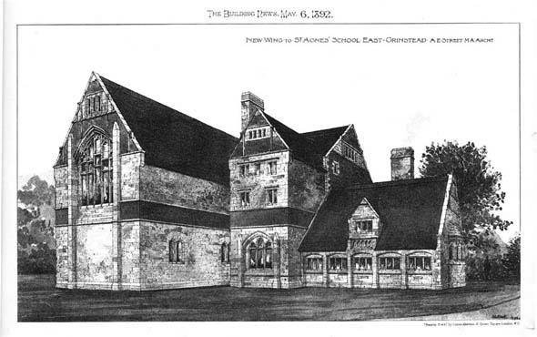 1892 &#8211; New Wing to School, East Grinstead, Sussex