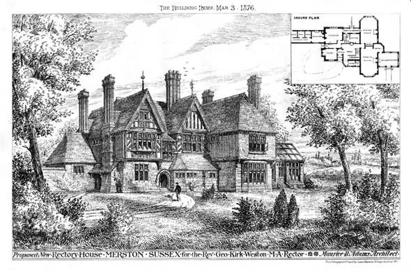 1876 – New Rectory, Merston, Sussex