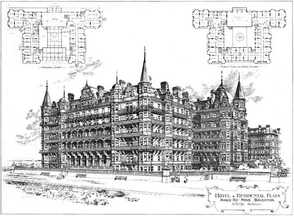 1896 – Hotel & Residential Flats, Kings Road, Brighton, Sussex