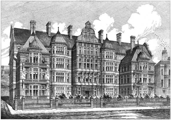 1883 – New Infirmary at Hastings, Sussex