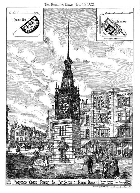 1881 – Proposed Clock Tower, Brighton, Sussex