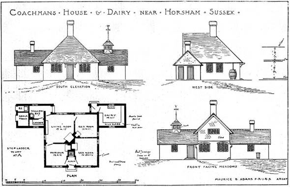 1905 – Coachmans House & Dairy, Nr. Horsham, Sussex