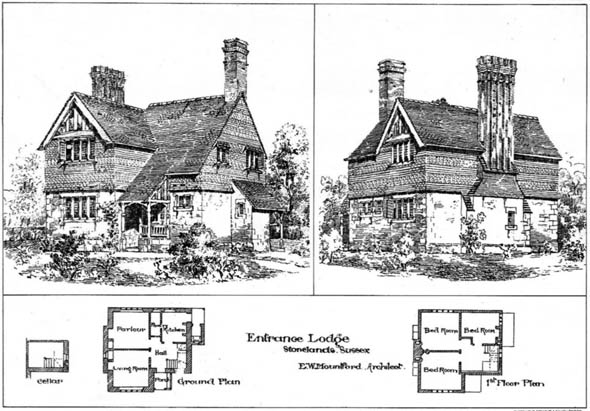 1904 – Entrance Lodge, Stonelands, Sussex