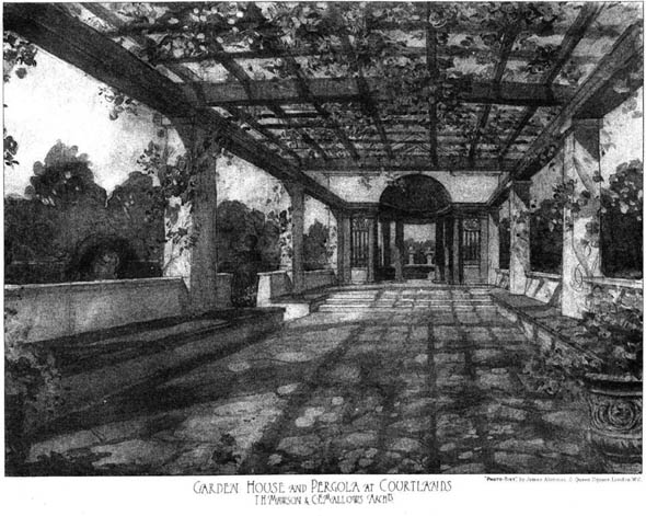 1903 &#8211; Garden House &#038; Pergola, Courtlands, Goring, Sussex