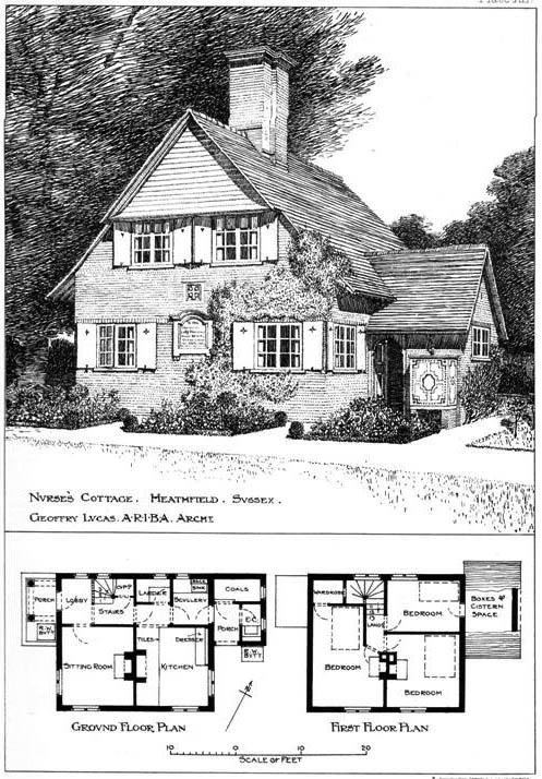 1904 &#8211; Nurse&#8217;s Cottage, Heathfield, Sussex