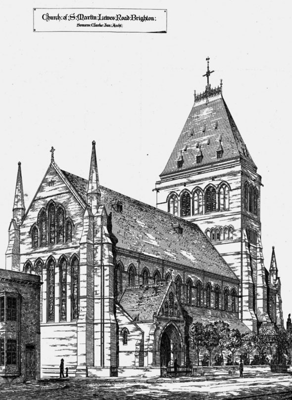 1874 – Church of St. Martin's, Lewes Rd, Brighton, Sussex