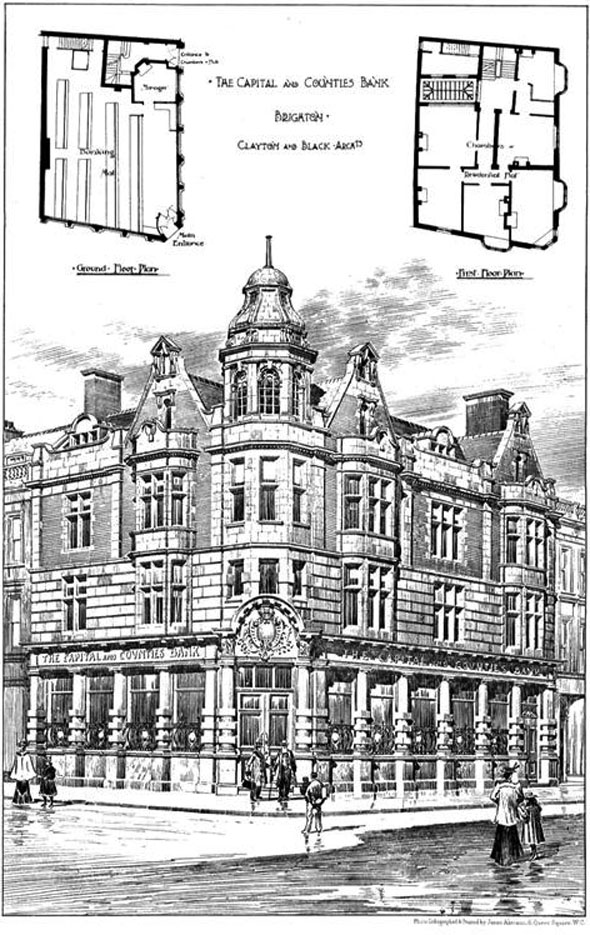 1901 &#8211; The Capital &#038; Counties Bank, Brighton, Sussex