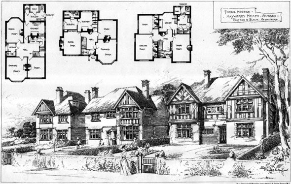 1906 &#8211; Three Houses, Haywards Heath, Sussex