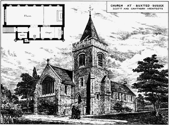1885 &#8211; Church, Buxted, Sussex