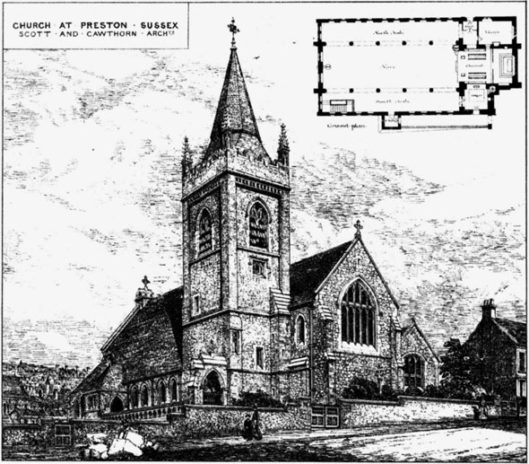 1885 &#8211; Church, Preston, Sussex