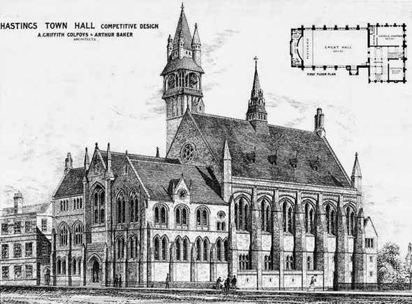 1875 &#8211; Hastings Town Hall, Sussex
