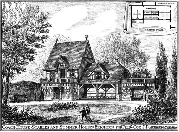 1879 &#8211; Coach House, Stables &#038; Summer House, Brighton, Sussex