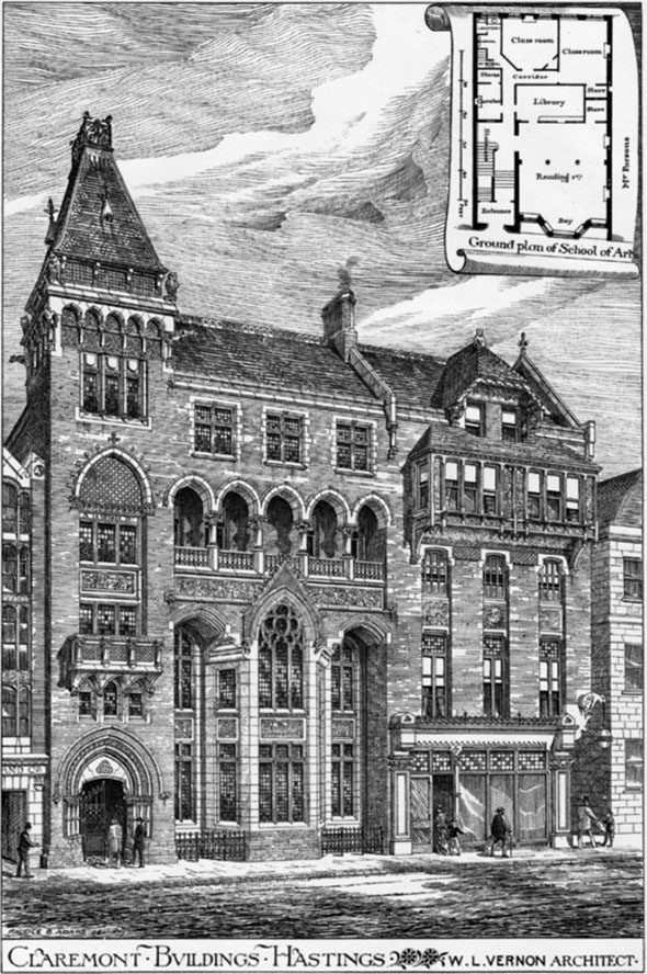 1878 – Brassey Institute, Claremont, Hastings, Sussex
