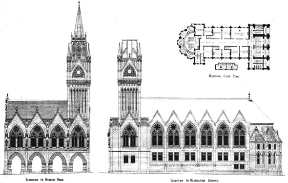 1875 &#8211; Design for Hastings Town Hall, Sussex