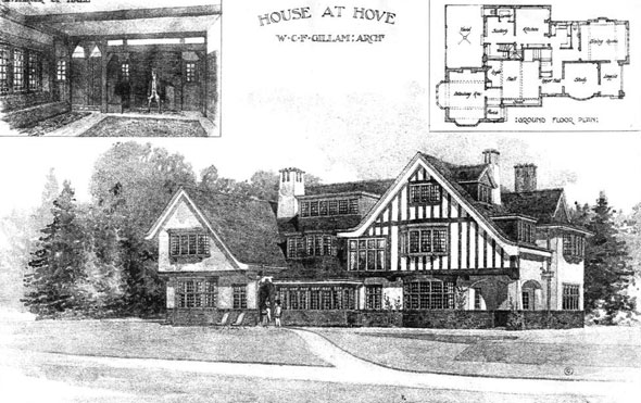 1908 &#8211; House at Hove, Sussex