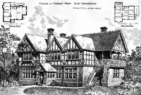 1892 &#8211; House at Forest Row, East Grinstead, Sussex