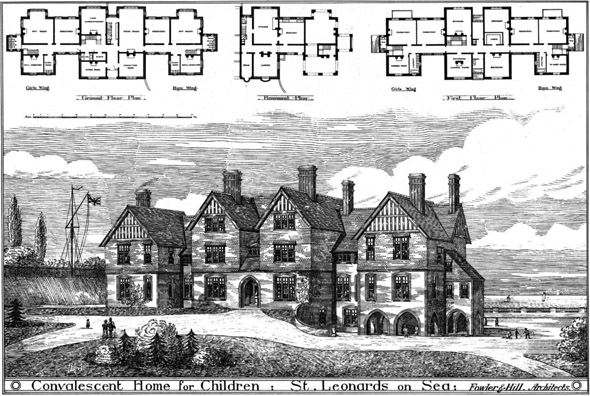 1881 – Convalescent Home for Children, St. Leonards on Sea, Sussex