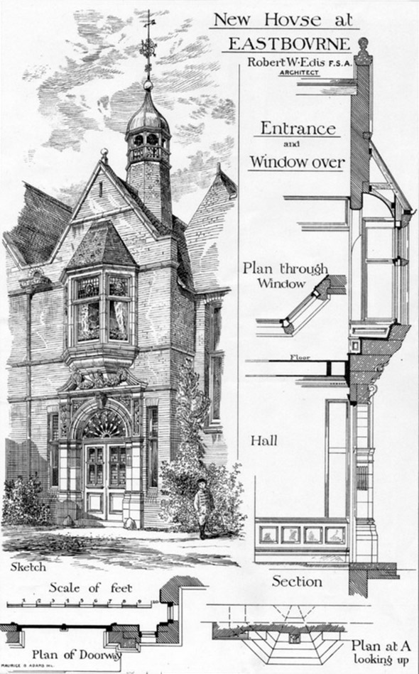 1879 &#8211; New House at Eastbourne, Sussex