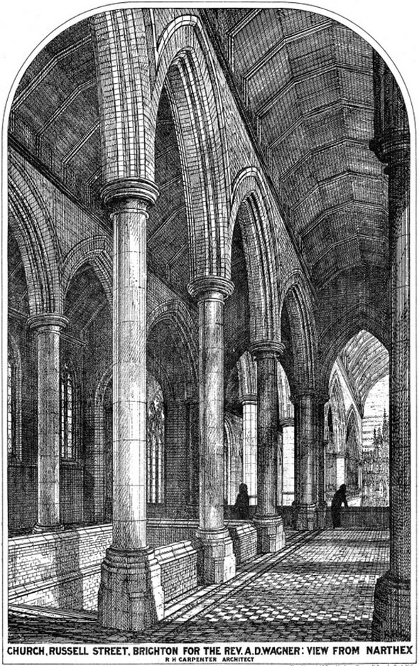 1875 – Designs for St. Paul's Church, Russell Street, Brighton, Sussex
