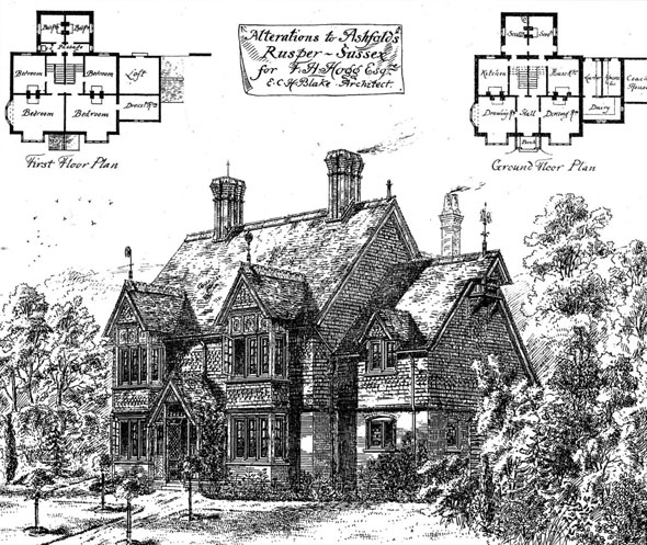 1877 – Alterations to Ashfold's, Rusper, Sussex
