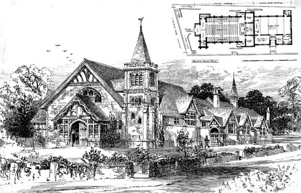1903 – Congregational Church & School, Jarvis Brook, Sussex