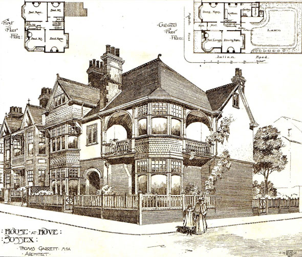 1902 &#8211; House at Hove, Sussex