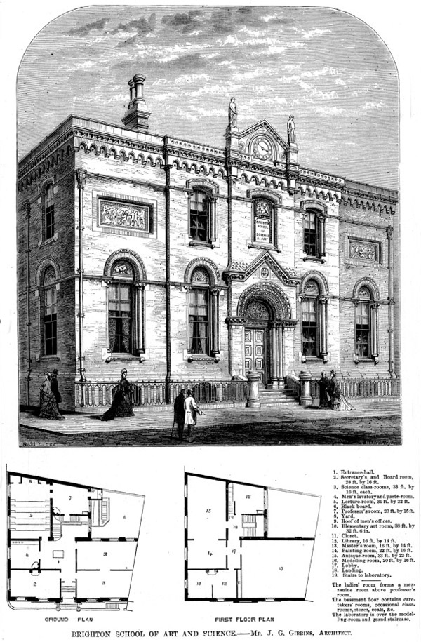 1877 – Brighton School of Art & Science, Sussex