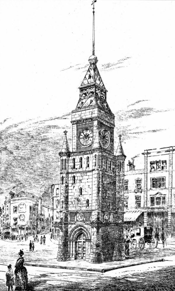 1887 &#8211; Design for Clock Tower, Brighton, Sussex