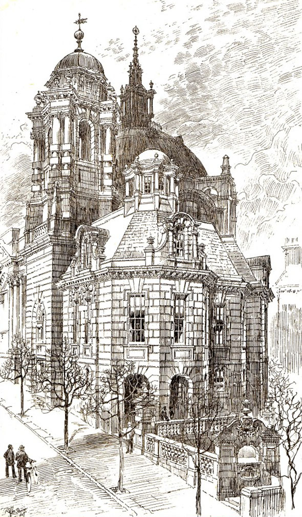 1899 – Design for Union Church, Queen Square, Brighton, Sussex