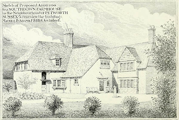 1919 – Additions to farmhouse, Petworth, Sussex