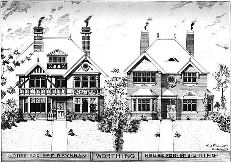 1894 – Houses, West Worthing, Sussex