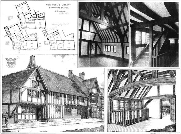 1905 – New Public Library, Stratford on Avon, Warwickshire
